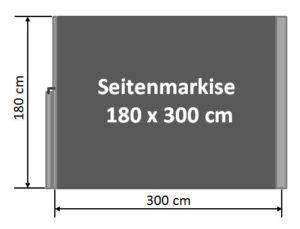 Seitenmarkise 180 x 300 cm