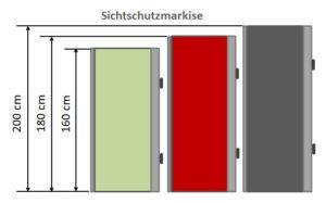 Sichtschutzmarkise