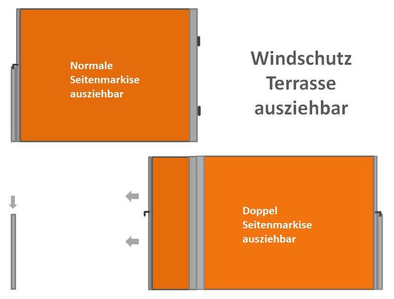 windschutz terrasse ausziehbar moderner flexibler sichtschutz. Black Bedroom Furniture Sets. Home Design Ideas