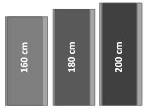Seitenmarkisen Größen